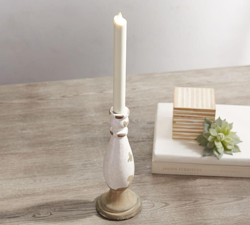 Premium Flicker Flameless Wax Taper Candle