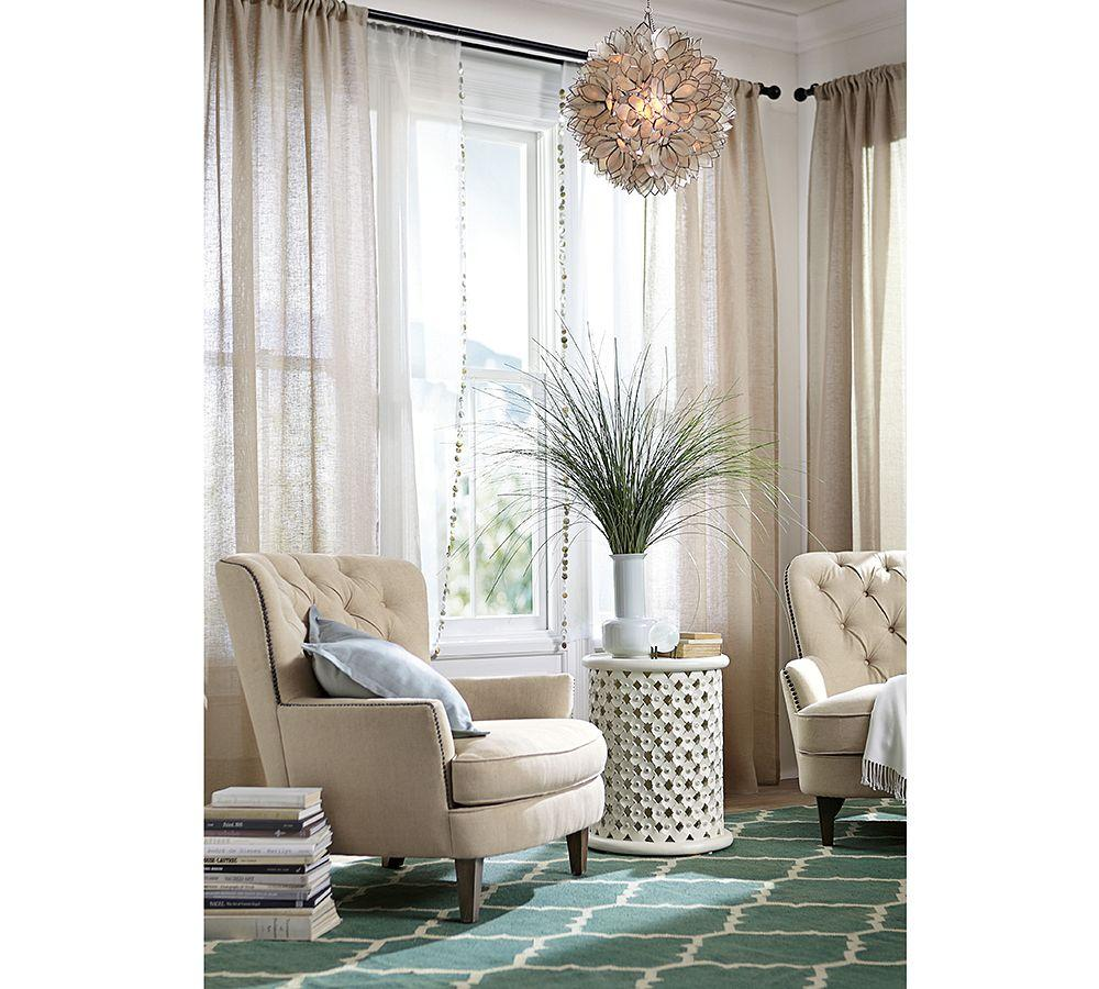 Cardiff Tufted Upholstered Armchair Pottery Barn