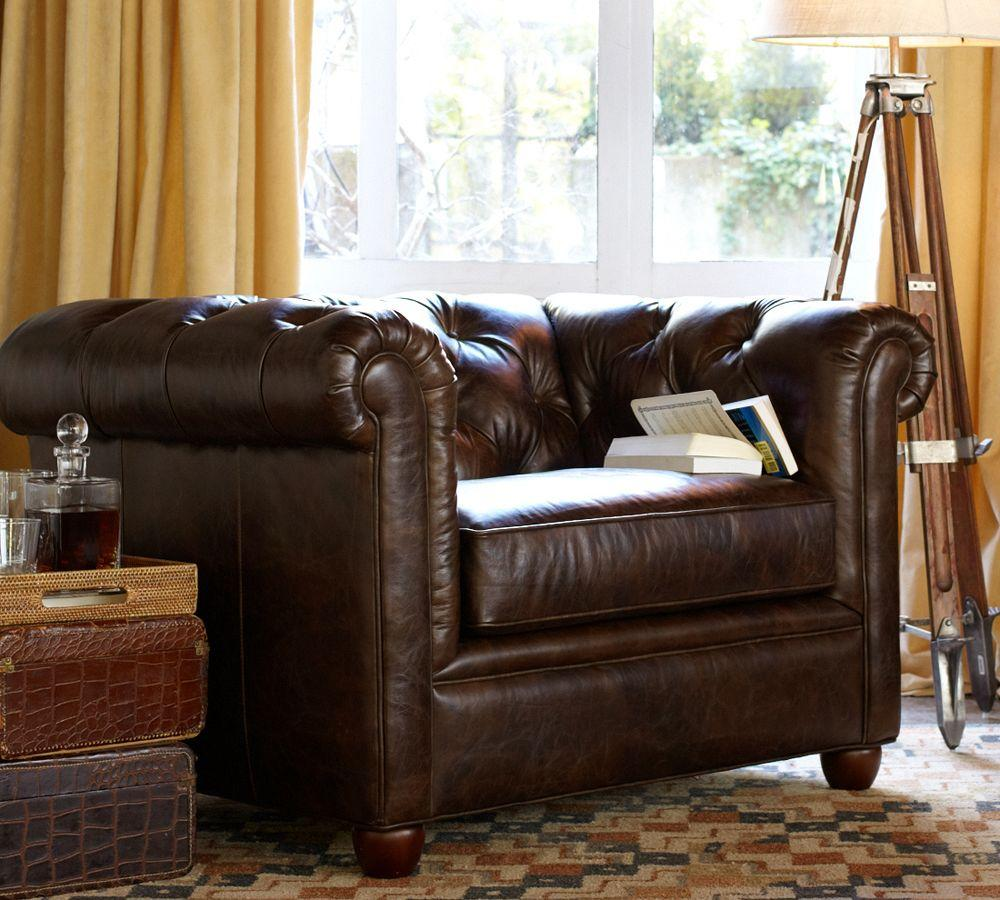 Chesterfield Leather Armchair Pottery Barn Au