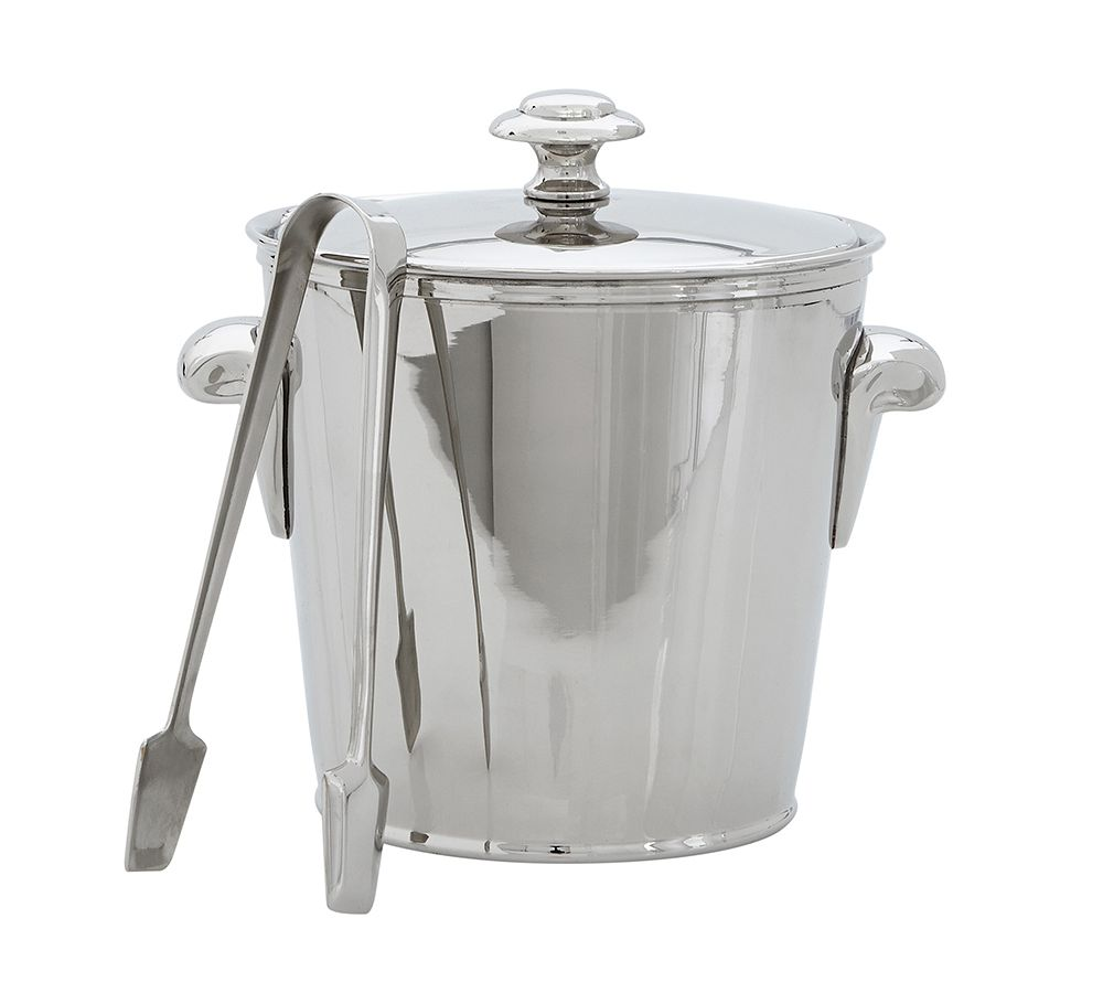 harrison ice bucket with tongs pottery barn au. Black Bedroom Furniture Sets. Home Design Ideas