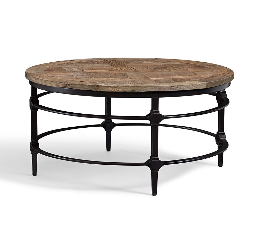 Furniture Coffee Accent Tables Parquet Round Coffee Table