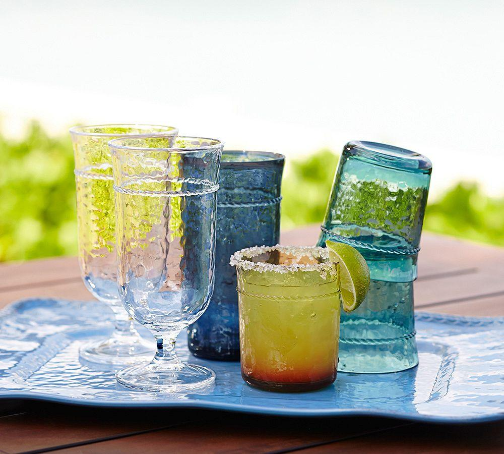 Rope Outdoor Drinkware Set Of 4 Colored Pottery Barn