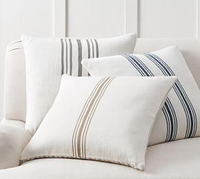 Culver Reversible Stripe Grainsack Cushion Cover