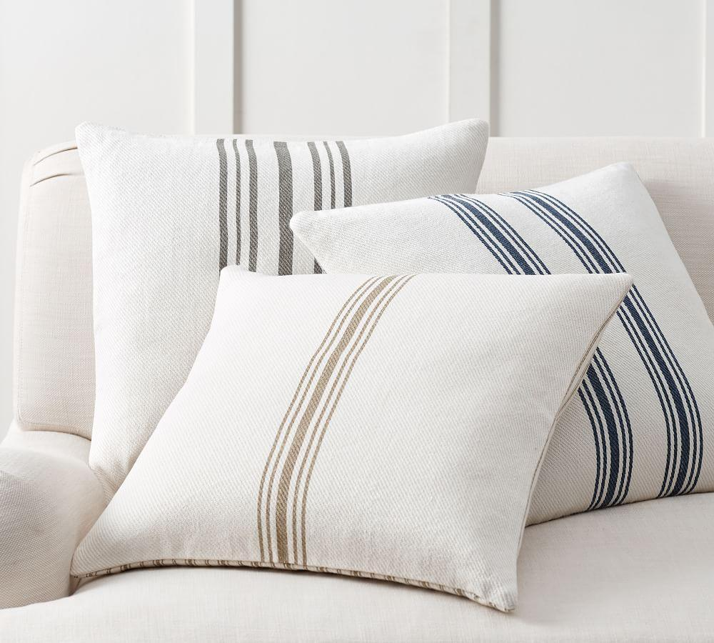 Culver Reversible Stripe Grainsack Cushion Cover | Pottery Barn AU
