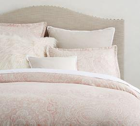 Vanessa Paisley Tencel™ Quilt Cover & Pillowcase - Soft Rose