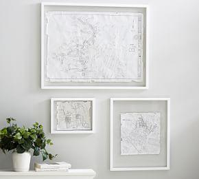 Floating Wood Gallery Frame - White