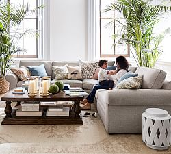 Pearce Upholstered 3-Piece Sectional with Wedge - Ash (312 cm)