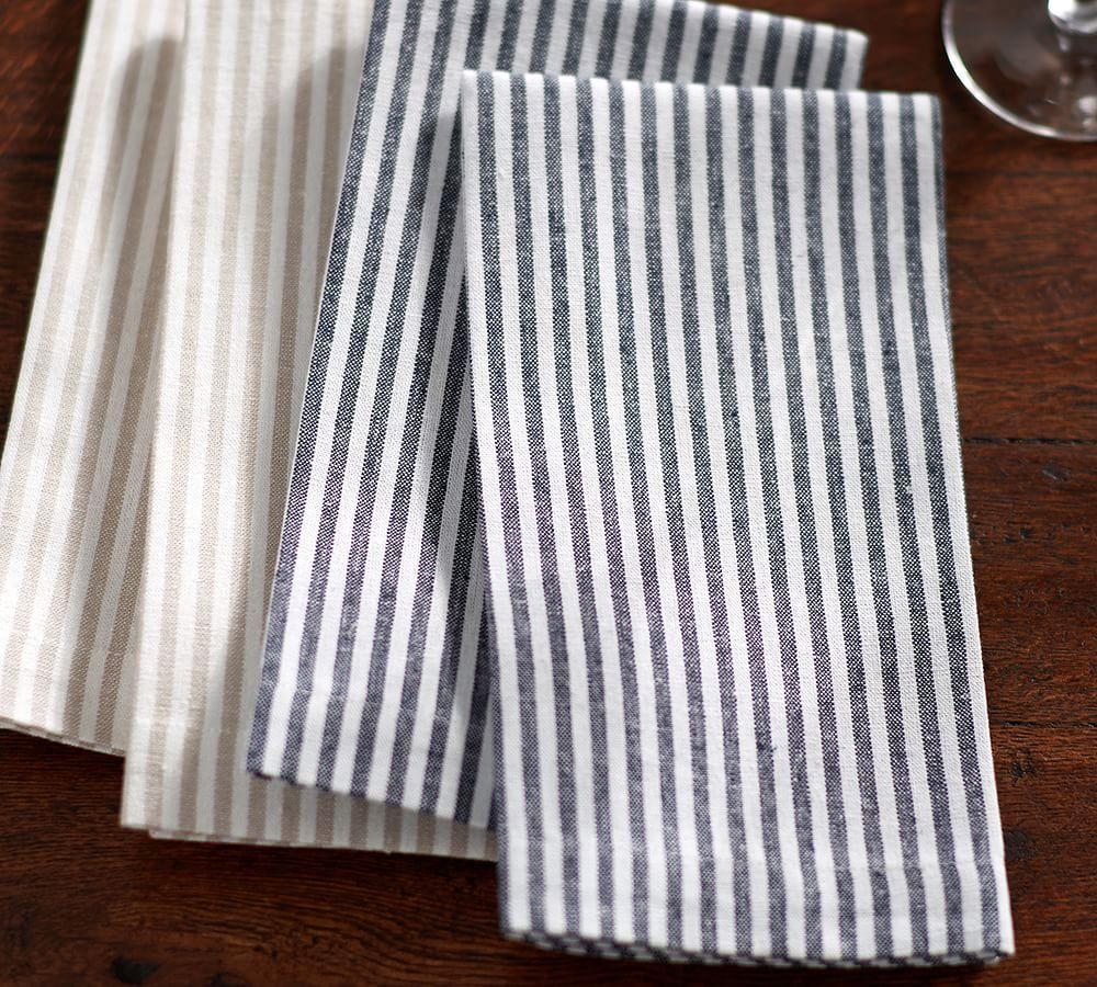 Wheaton Stripe Napkin - Navy