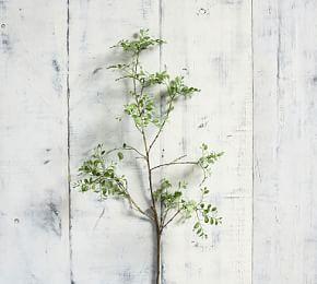 Faux Green Petal Leaf Branch