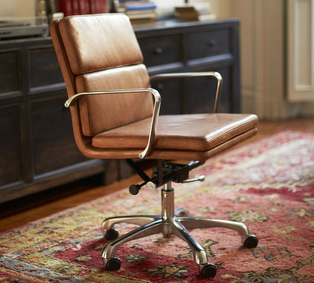 Nash Leather Swivel Desk Chair Pottery Barn Au