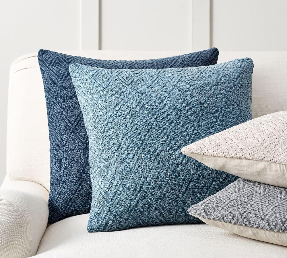 Washed Diamond Cushion Cover | Pottery Barn AU