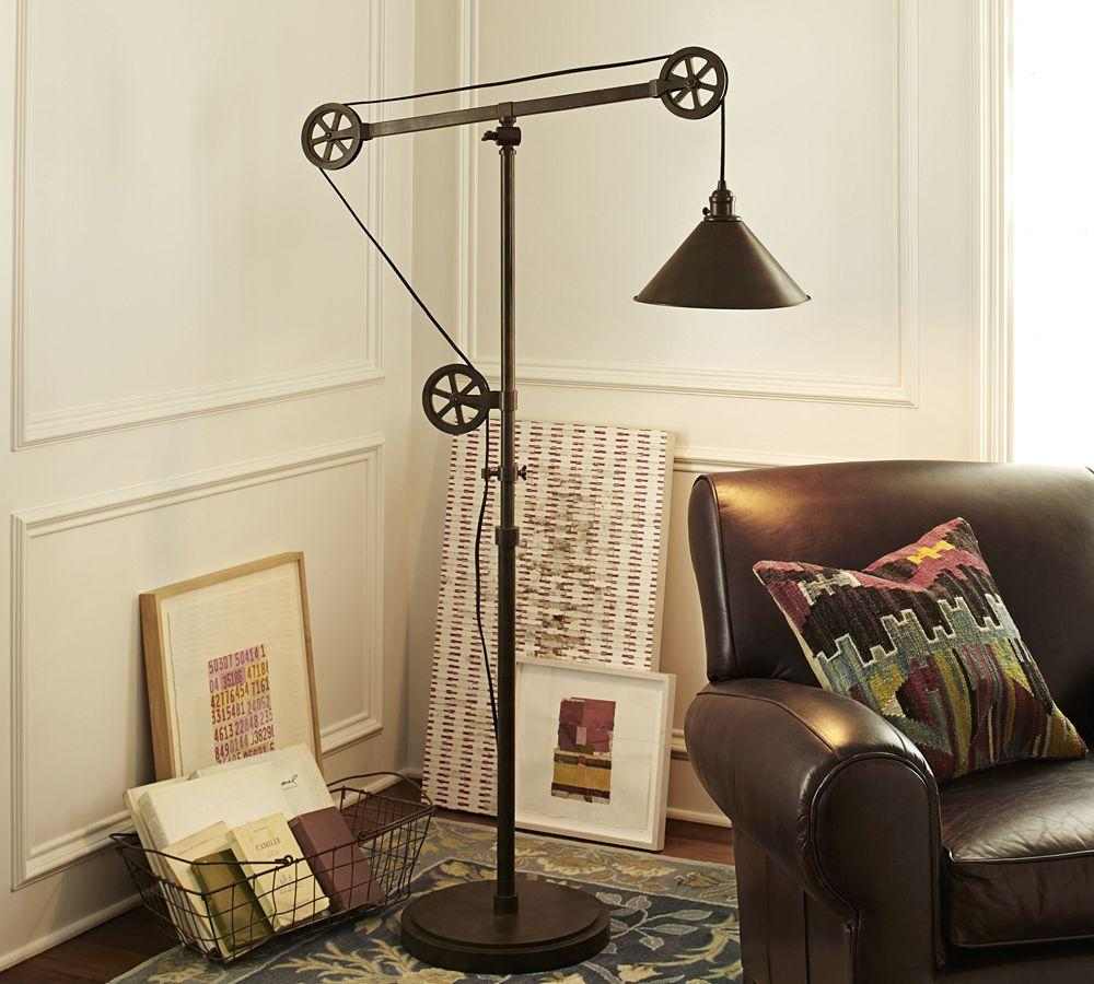 Pottery Barn Phoenix Lamp: Warren Pulley Task Floor Lamp
