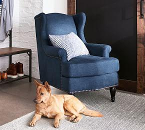 SoMa Delancey Wingback Upholstered Armchair