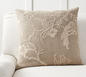 Kelcie Embroidered Stonewashed Cushion Cover