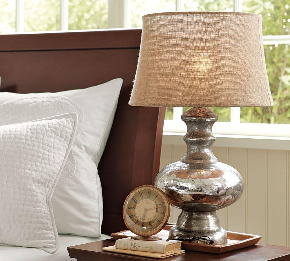 Antique Mercury Glass Table & Bedside Lamps