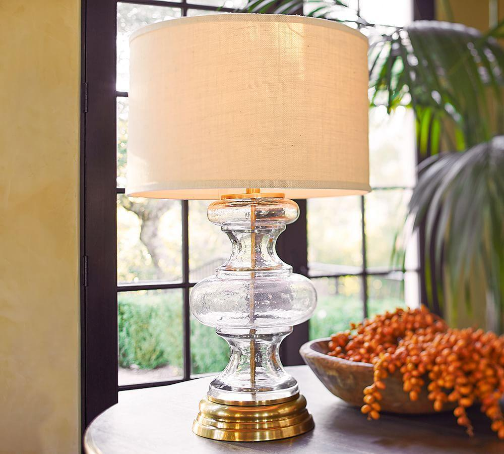 Jasmine Glass Table Lamp Base Pottery Barn Au