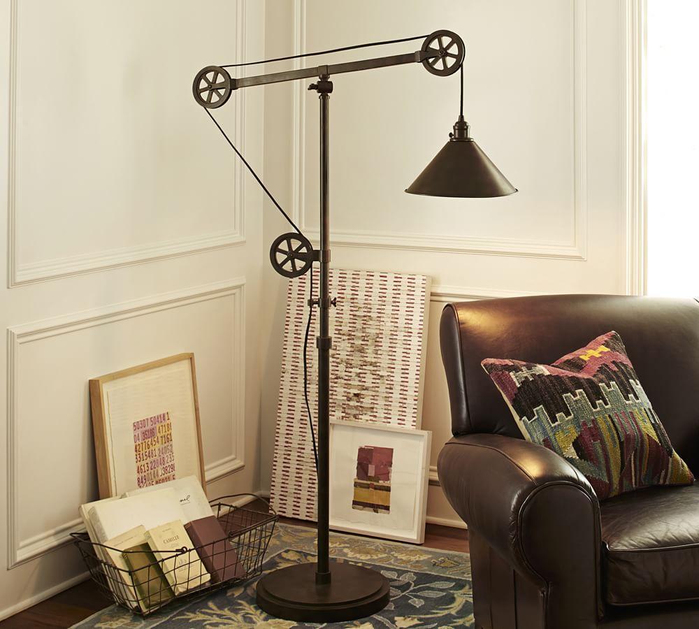 Warren Pulley Task Floor Lamp