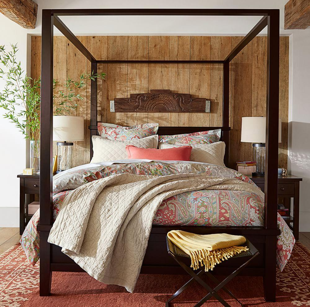 Farmhouse Canopy Bed Pottery Barn Au