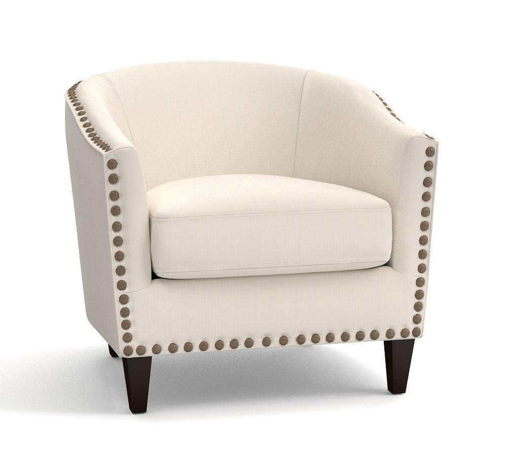 Harlow Upholstered Armchair - Ecru