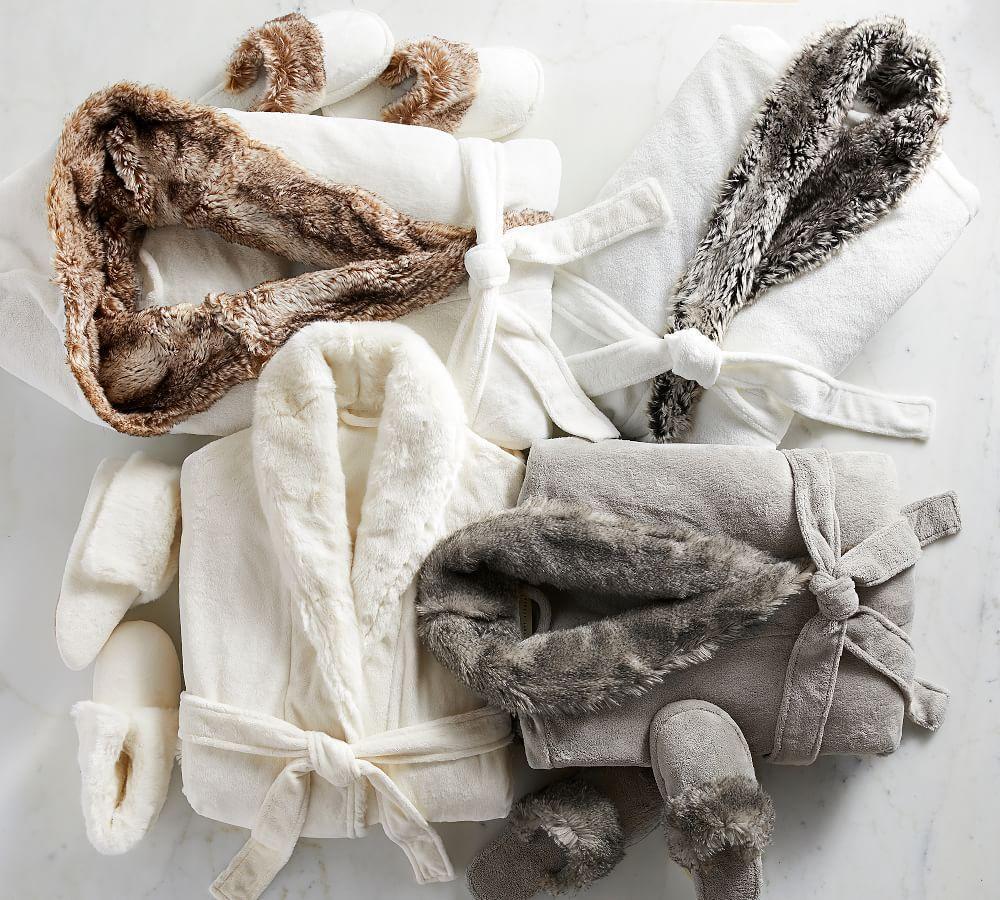 Faux Fur Robe - Ivory Alpaca