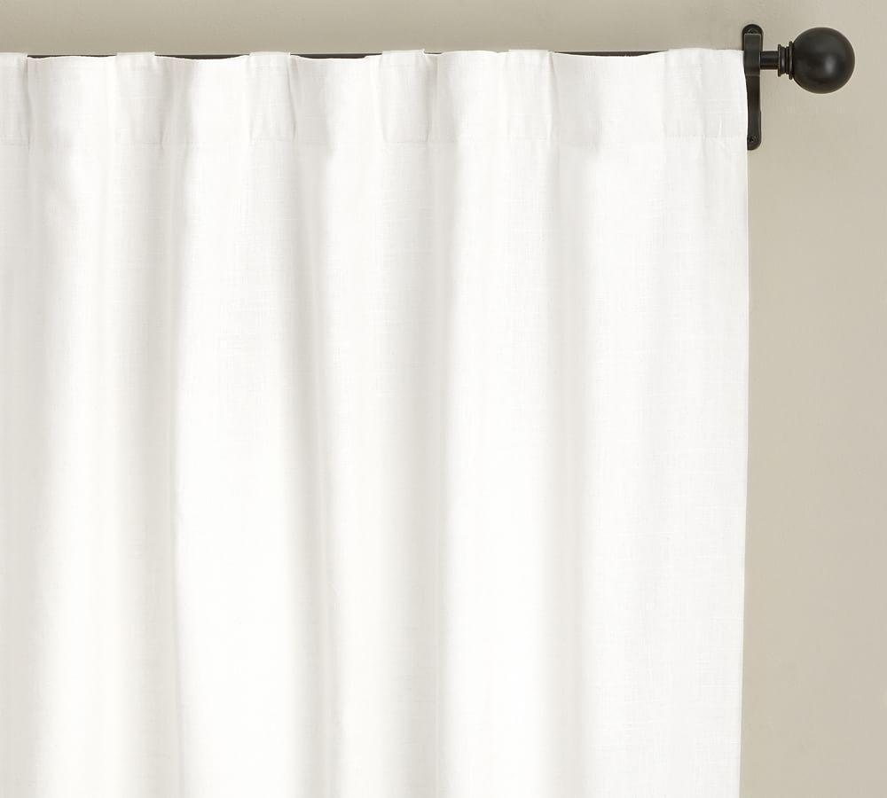 Emery Linen/Cotton Curtain - White
