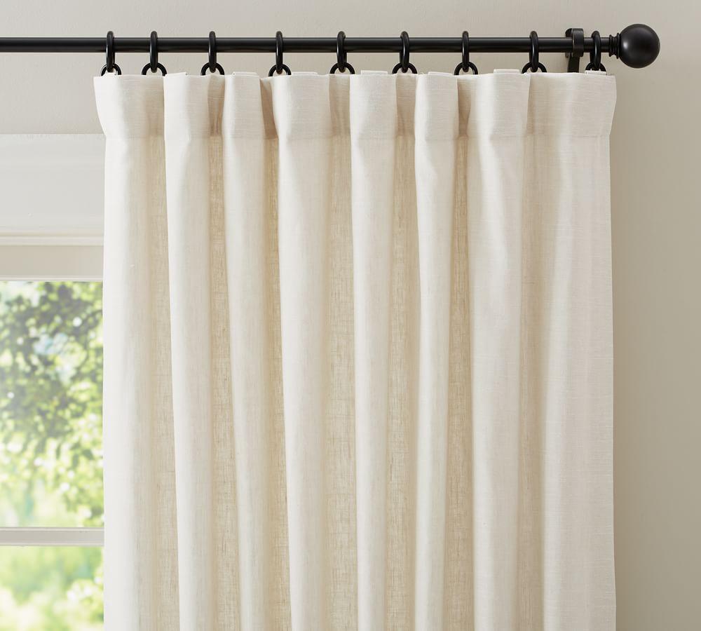 Emery Linen/Cotton Curtain - Ivory