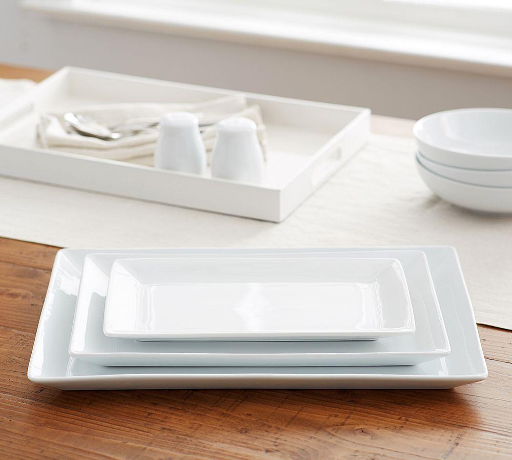 Great White Rectangular Serving Platter Pottery Barn Au