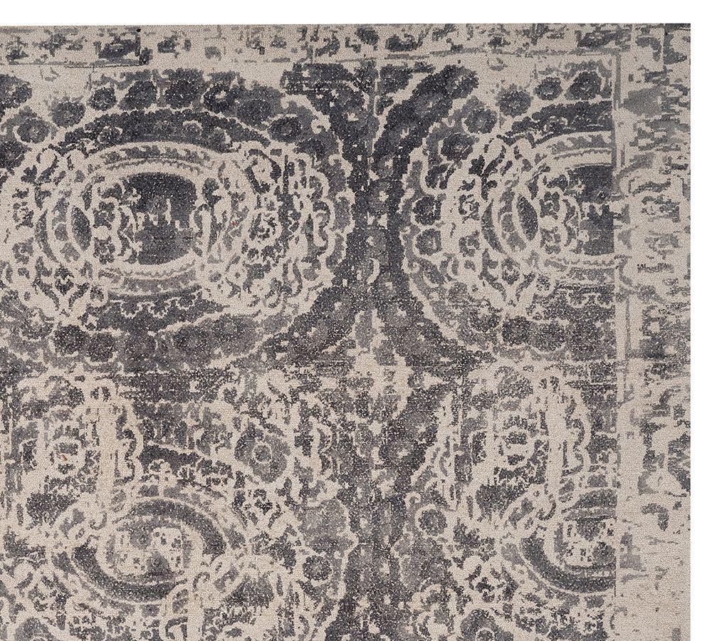 Bosworth Printed Rug Grey Pottery Barn Au