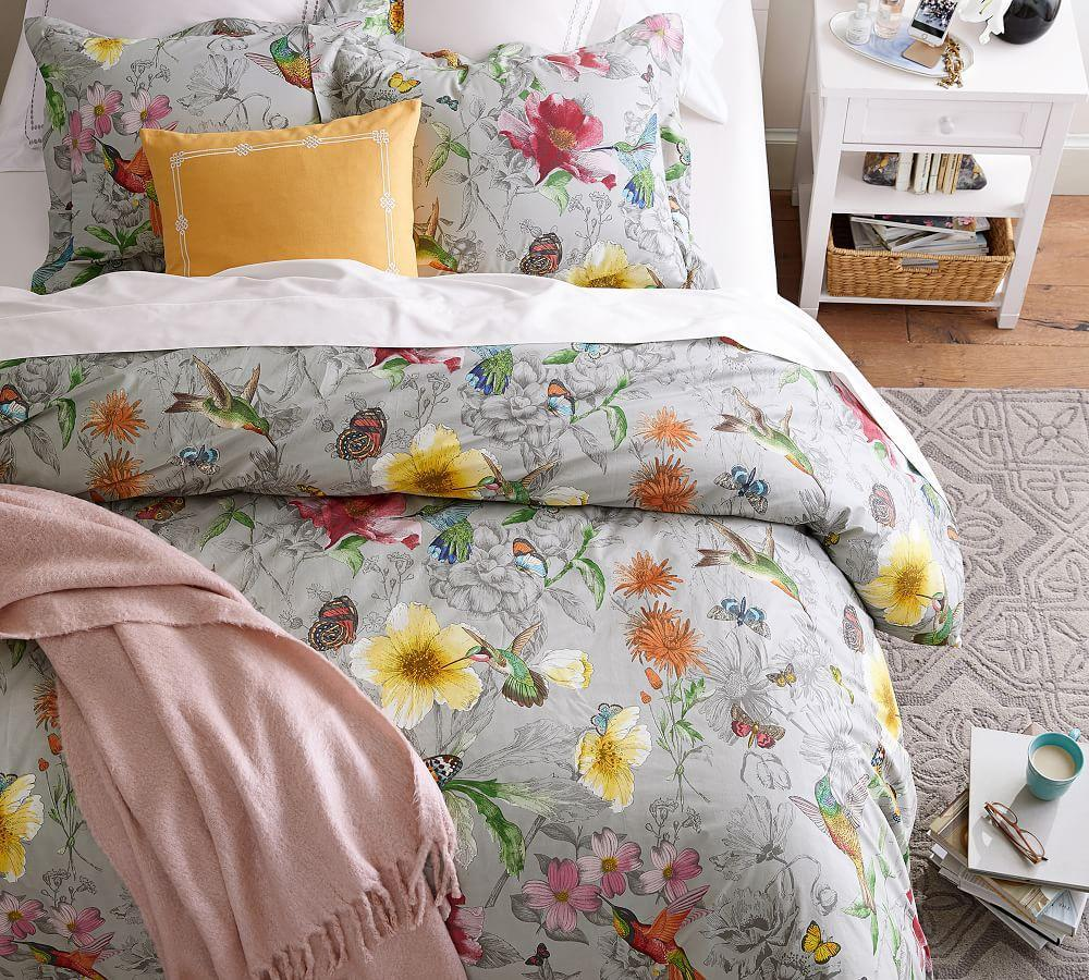 Hummingbird Reversible Quilt Cover & Pillowcase