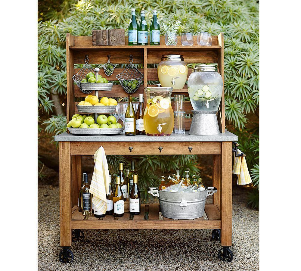 Galvanised Metal Tiered Stand