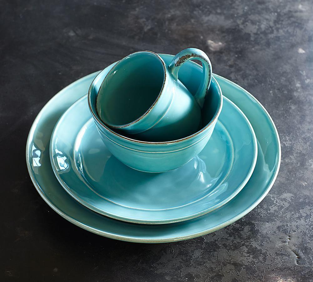 Cambria Dinnerware Turquoise Blue Pottery Barn Au