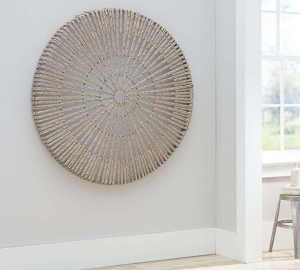 Woven Wheel Wall Art by Pottery Barn