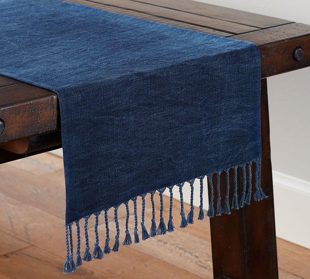 Indigo Knotted Runner
