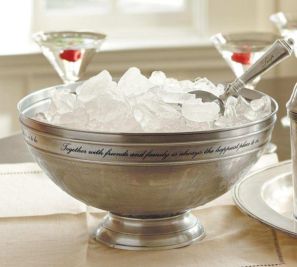 Antique-Silver Serve Bowl