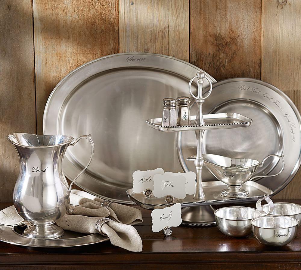 Antique-Silver Salt & Pepper Shakers