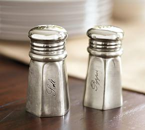 Antique-Silver Salt & Pepper Shakers