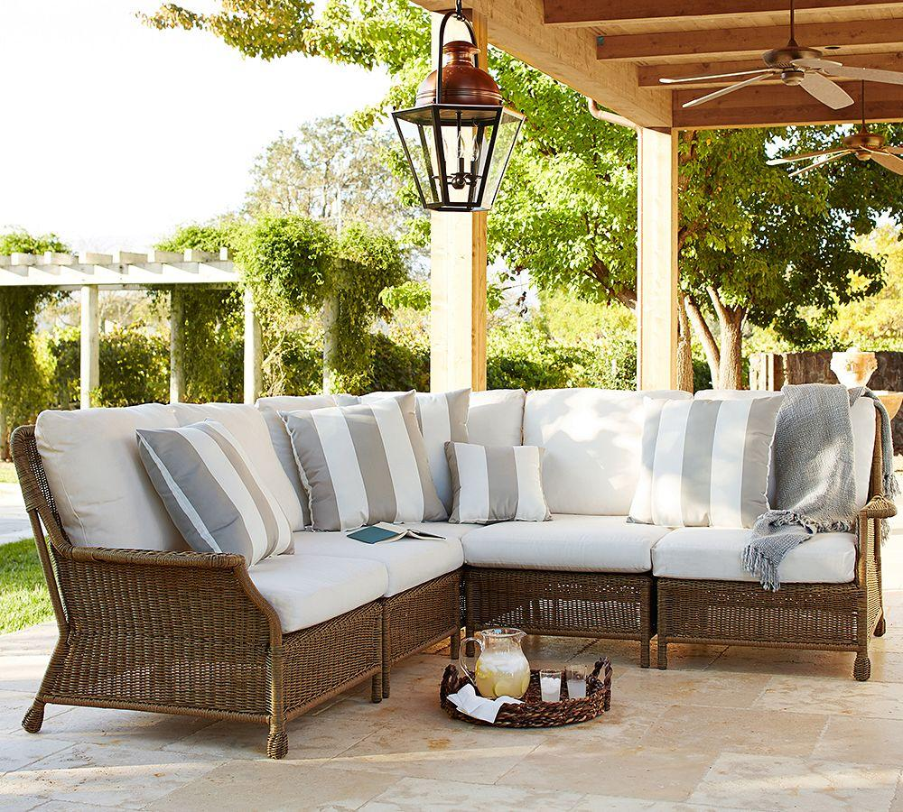 Furniture Furniture Barn Columbia Sc Ideas For Inspiring: Saybrook All-Weather Wicker Sectional