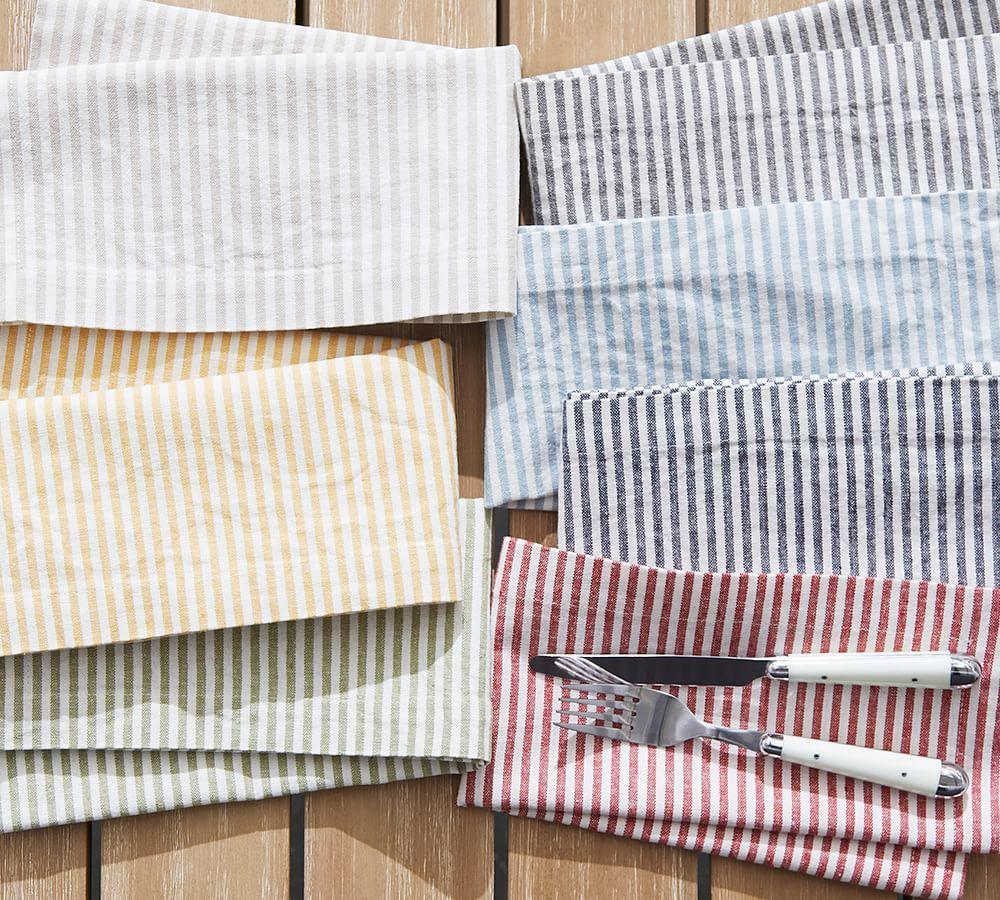 Wheaton Stripe Napkin - Charcoal
