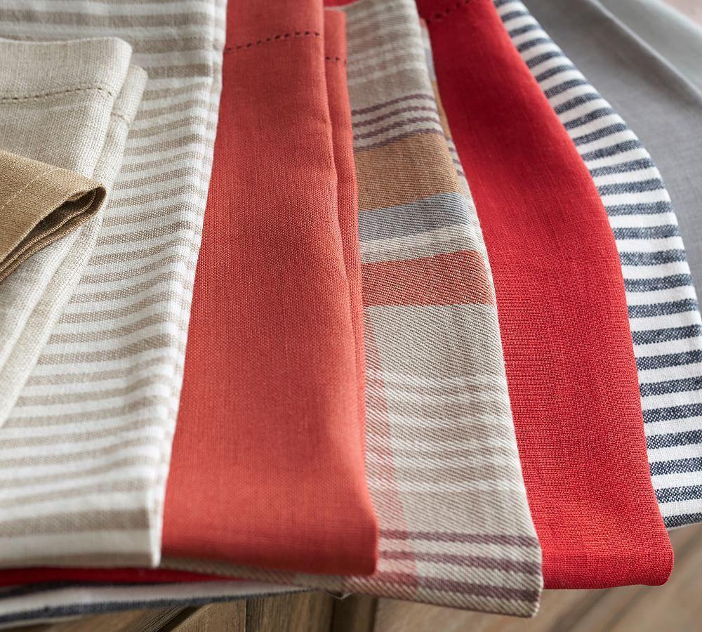 Wheaton Stripe Napkin - Flax