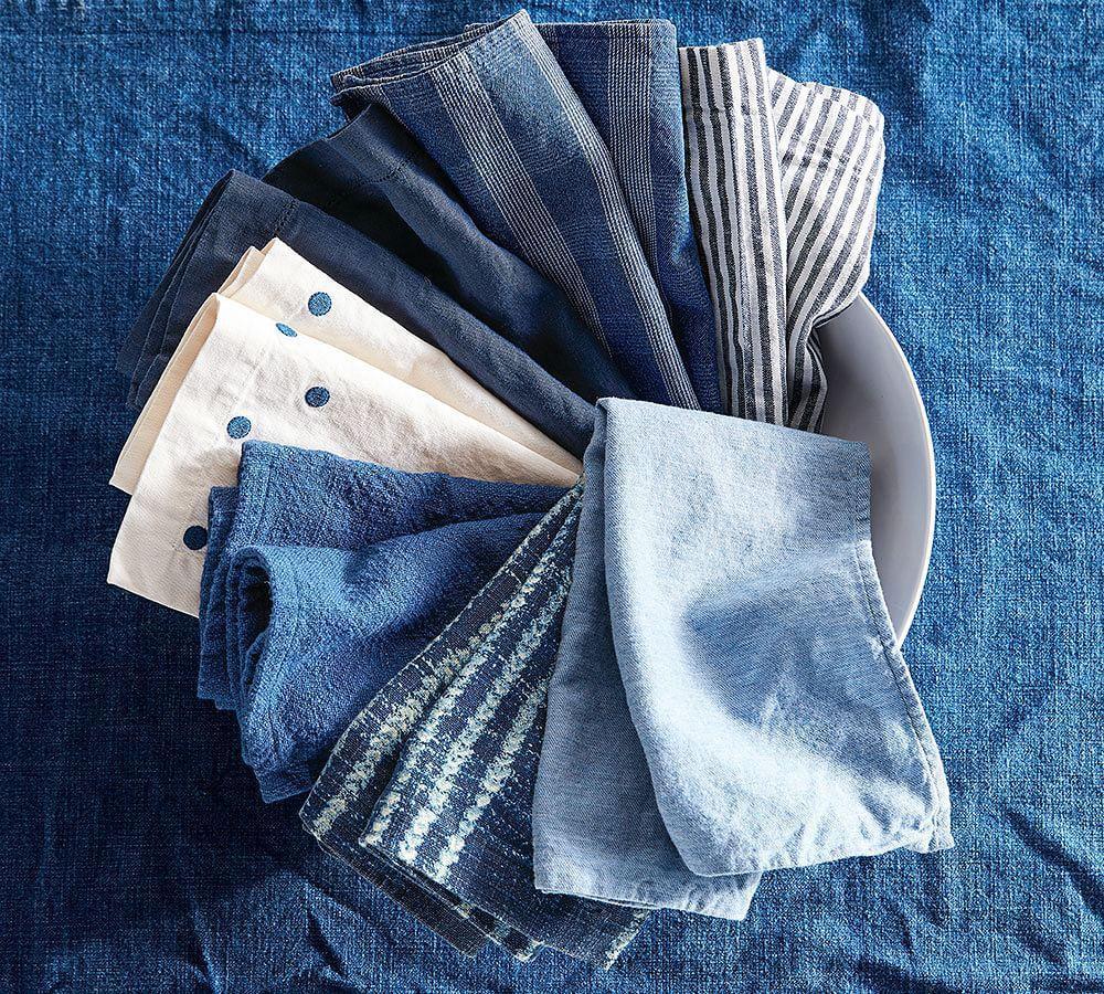Cotton Casual Napkin - Indigo
