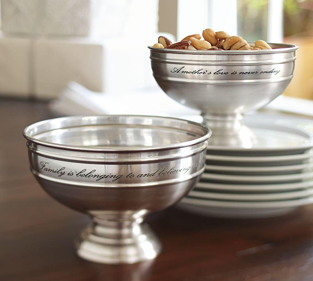 Antique Silver Finish Snack Bowl