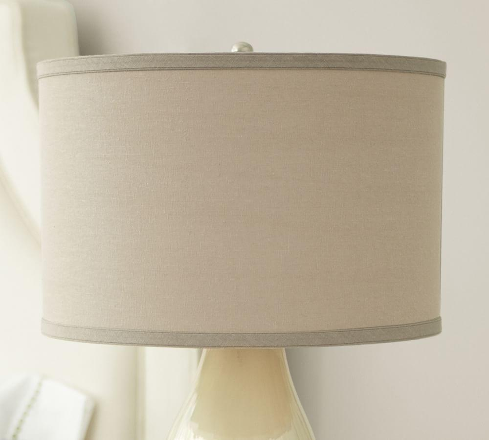 Straight sided linen drum lamp shade pottery barn au straight sided linen drum lamp shade mozeypictures Images
