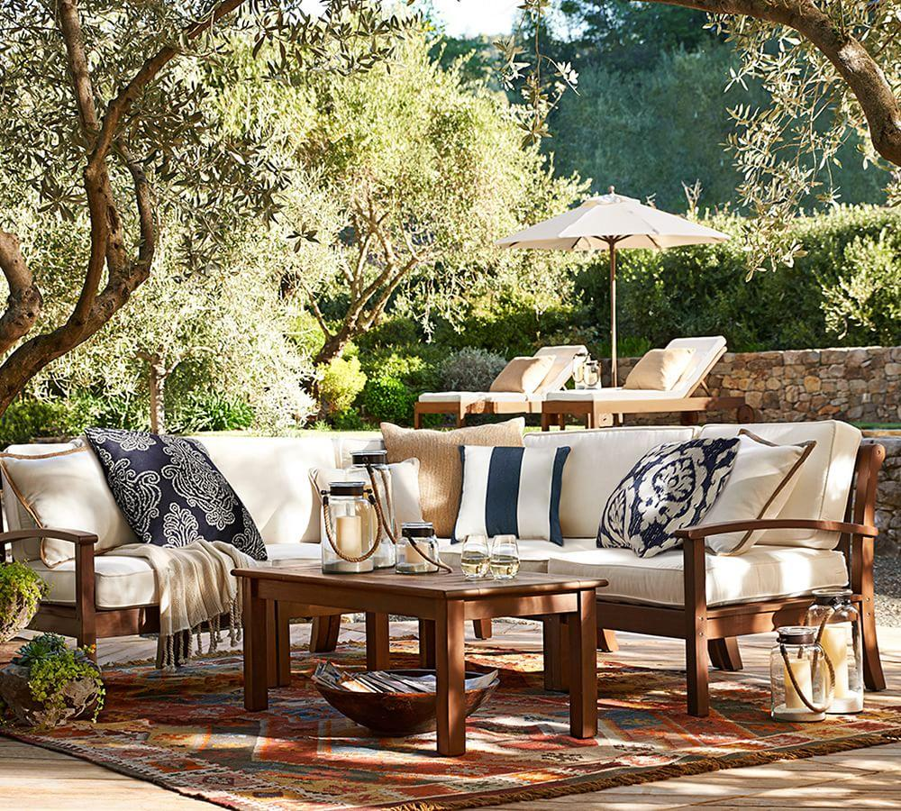 Outdoor Garden Furniture By Pottery Barn: Chatham Sectional Set