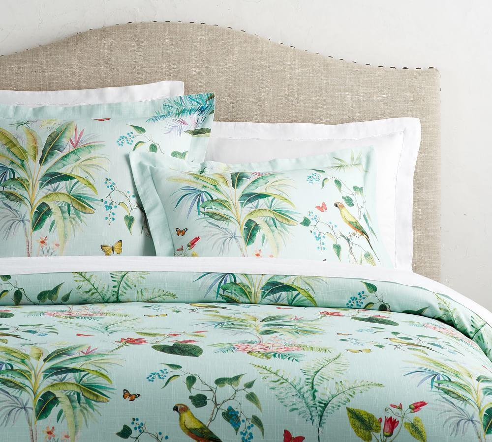 Lia Palm Print Quilt Cover Amp Pillowcase Pottery Barn Au