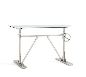 Pittsburgh Crank Standing Glass Desk