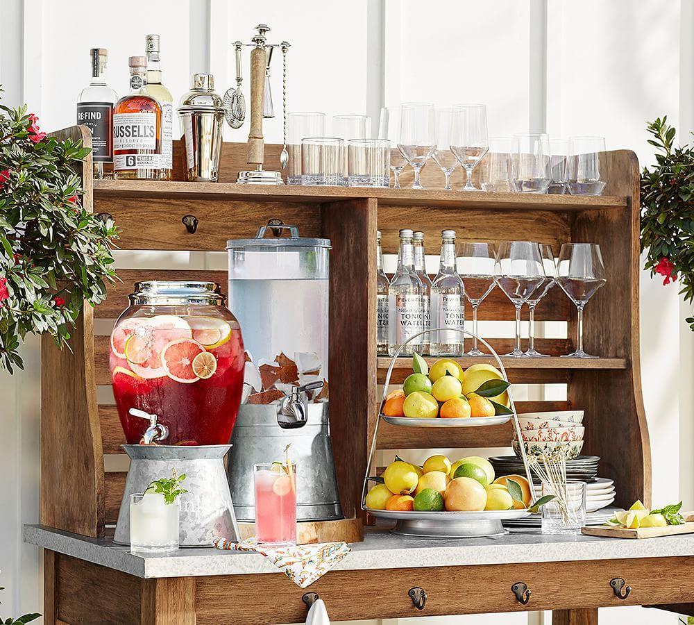 Galvanised Metal Drink Dispenser Stand