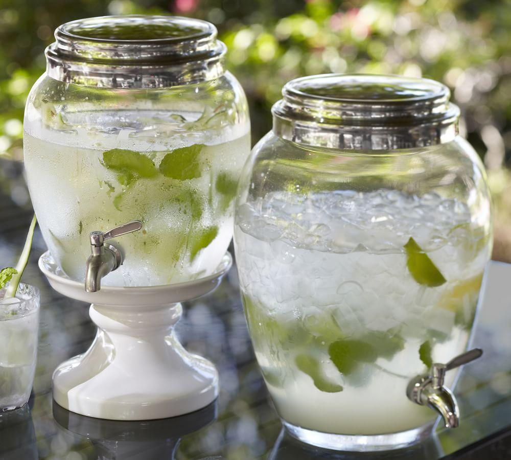 Glass Drink Dispenser Pottery Barn