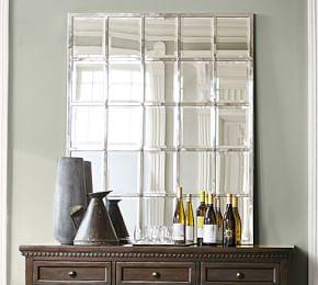 Eagan Silver Multipanel Large Mirror