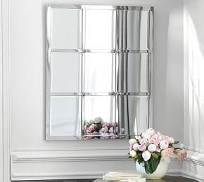 Eagan Silver Multipanel Small Mirror