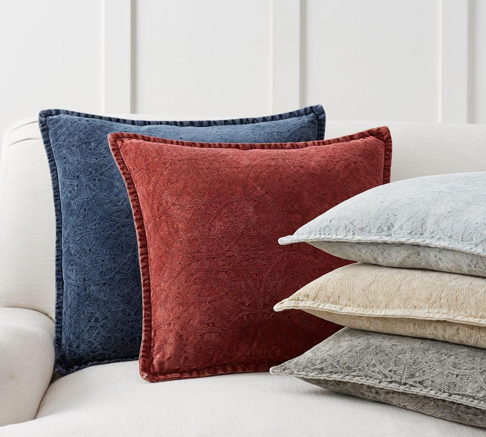 Chenille Jacquard Cushion Cover Pottery Barn Au